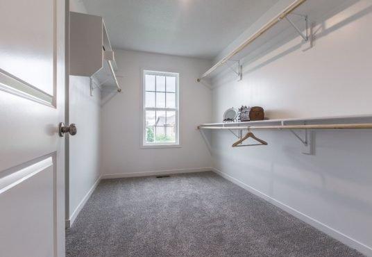 master closet in Monarch floor plan