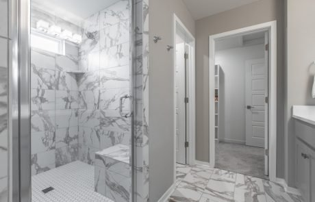 master bath with large shower Azalea floor plan