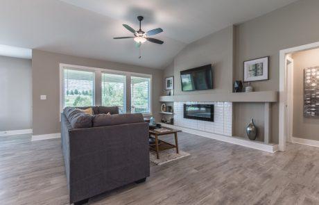 custom living room Azalea floor plan