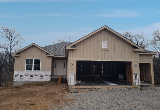 home being built in Copper Ridge