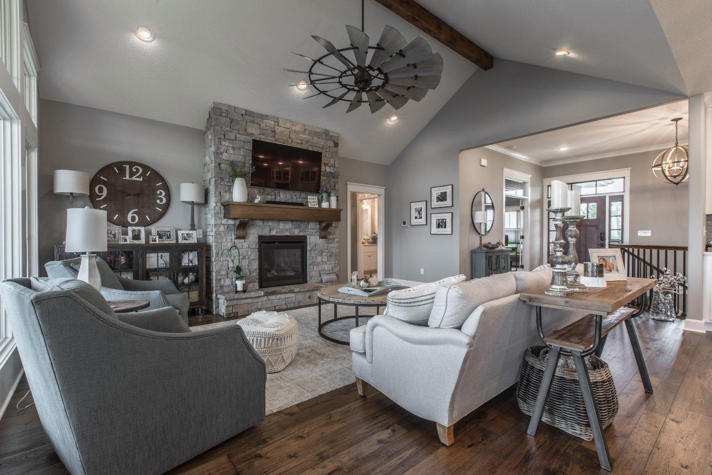 custom designed living room
