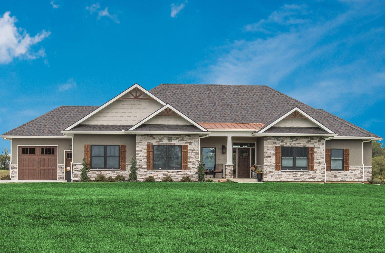 exterior of custom designed home.